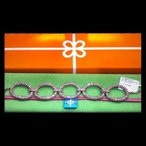 Rose Gold CZ Oval Link Bracelet